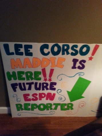 A sign I made to hold at College Gameday Live